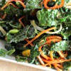 Massaged Kale Salad with Garlic-Sesame Dressing