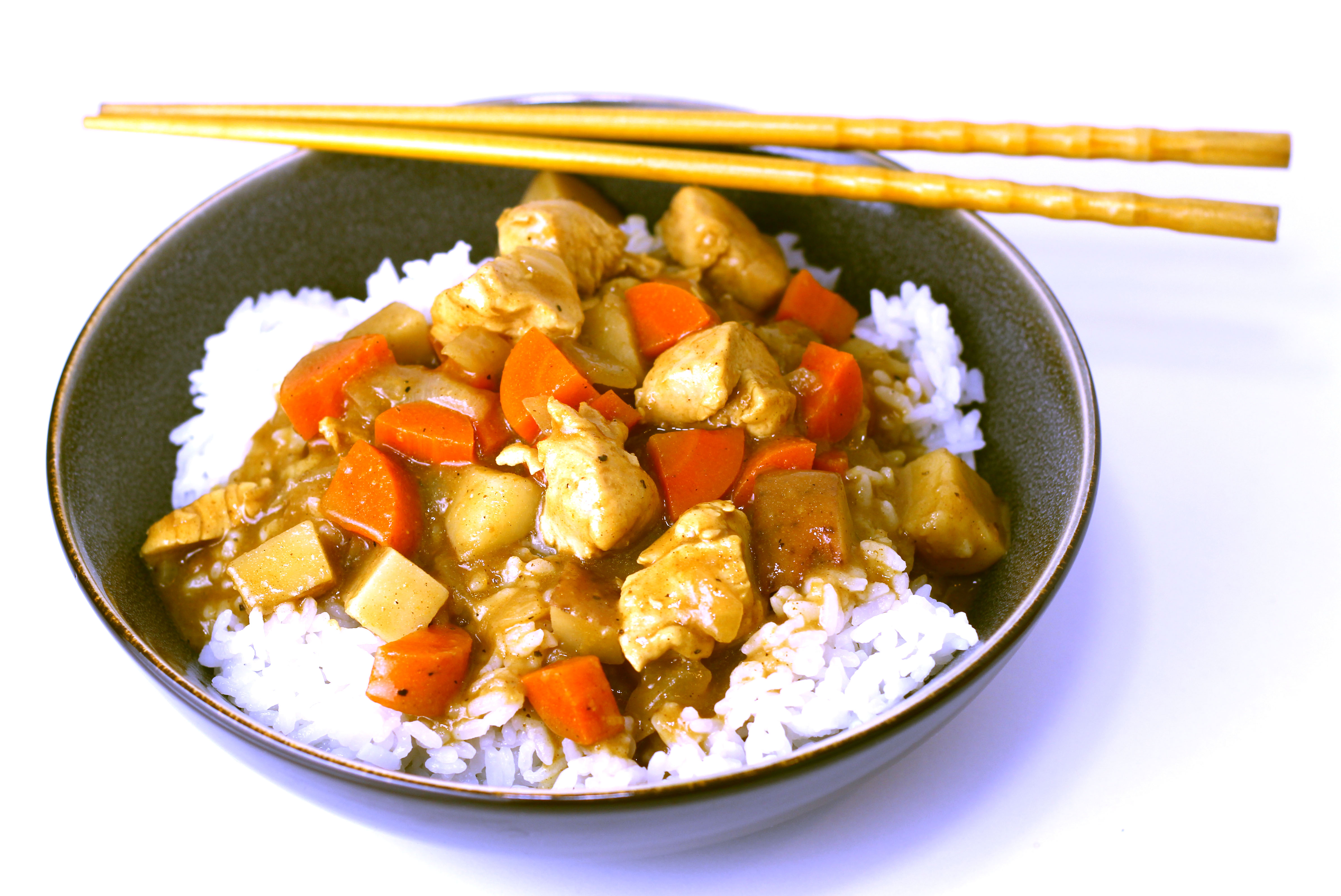 Japanese Curry with Chicken - Cooking Onions